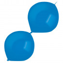 50 globos de latex Decorador Brillante Royal Blue
