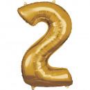 Nagy számú, N34 aranyfólia ballon, csomagolva 50 c