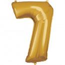Nagy számú, N34 típusú arany fólia ballon, 58 cm-e