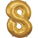 Nagy számú, N34 típusú arany fólia ballon, 53 cm-e