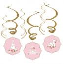 6 decorative spirals Princess for a day foil / pap