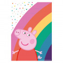 8 party bags Peppa Pig Paper 23.4 x 16.2 cm