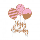 Pick candle Rose Gold Birthday 6.2 x 11.3 cm