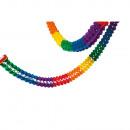 groothandel Woondecoratie: Slinger regenboog vlamvertragend 16 x 400 cm