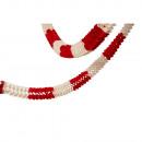 Garland piros és fehér égésgátló 16 x 1