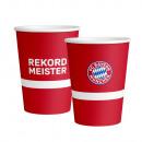 6 Becher FC Bayern München Papier 500 ml