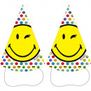 8 party hats Smileyworld paper height 16 cm