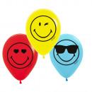 nagyker Kültéri játékok: 6 latex léggömb Smileyworld 27,5 cm / 11 '