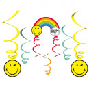 4 decorative hangers Smileyworld paper 130 cm