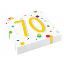 20 napkins Confetti Birthday 70 33 x 33 cm