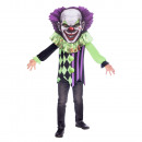 Scary Clown Big Head kids costume 4-6 years
