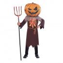 Scary Pumpkin Big Head kids costume10-12years