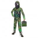 Quarantine Zombie Alien Child Costume8-10years