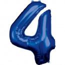 Nagy számú, N34 típusú, kék fólia léggömb csomagol