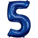 Nagy számú, N34 méretű, kék fólia ballon csomagolv