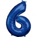Nagy számú, N34 méretű, kék fólia léggömb csomagol