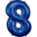 Nagy szám 8, N34 kék fólia léggömb csomagolva, 53c