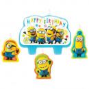 4 mini figure candles Despicable Me