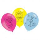 6 latex balloons Spongebob 27.5 cm / 11 ''