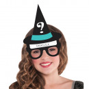 Halloween game 'Who am I?' Witch glasses