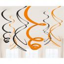 6 decorative spirals Halloween Essentials hanging