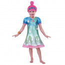 Disfraz infantil Poppy Troll 7-8 años