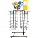 spinner - Expositor 120 ganchos 2 x 5 lados negro