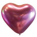 50 globos de látex decorador corazón satén Flamenc