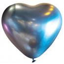 50 globos de látex decorador corazón satén Luxe Pl