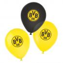 6 globos de látex BVB Dortmund 4 colores 27,5 cm /