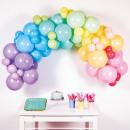 Guirnalda de bricolaje arcoíris pastel 78 globos 4