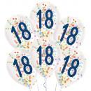 6 gotas de globos de látex 18 Confeti Cumpleaños 1