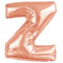 hurtownia Upominki & Artykuly papiernicze: Balon foliowy w kolorze różowego złota z dużym num
