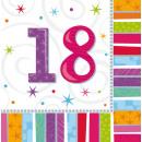 16 Servietten Radiant Birthday 18 33 x 33 cm
