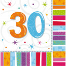 16 Servietten Radiant Birthday 30 33 x 33 cm