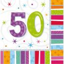 16 Servietten Radiant Birthday 50 33 x 33 cm