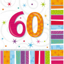 16 Servietten Radiant Birthday 60 33 x 33 cm