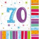 16 Servietten Radiant Birthday 70 33 x 33 cm