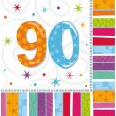 16 Servietten Radiant Birthday 90 33 x 33 cm