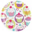 8 Tányér cupcake 23 cm