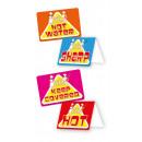 20 figyelmeztető kártya és matrica Kis Cooks 10 x