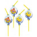 wholesale Party Items: 8 drinking straws Spongebob
