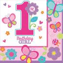 16 Servietten Sweet Birthday Girl 33 x 33 cm