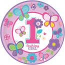 8 Tányér édes születésnapi lány 23 cm