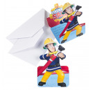 8 Invitation Fireman Sam with envelopes