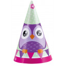8 party hats owl