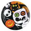 8 Tányér Halloween gyerekek 23 cm