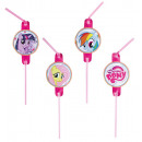 8 drinking straws My Little Pony Rainbow