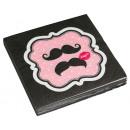 20 napkins Mustache 33 x 33 cm