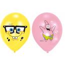 6 latex balloons Spongebob 4-colored 27,5 cm / 11